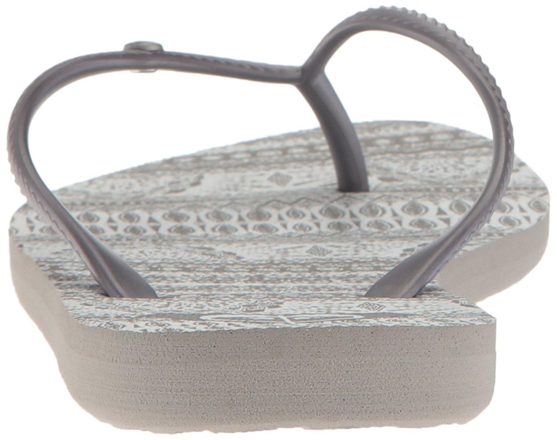 Size 9.0 Roxy Womens Bermuda Open Toe Beach Grey//White
