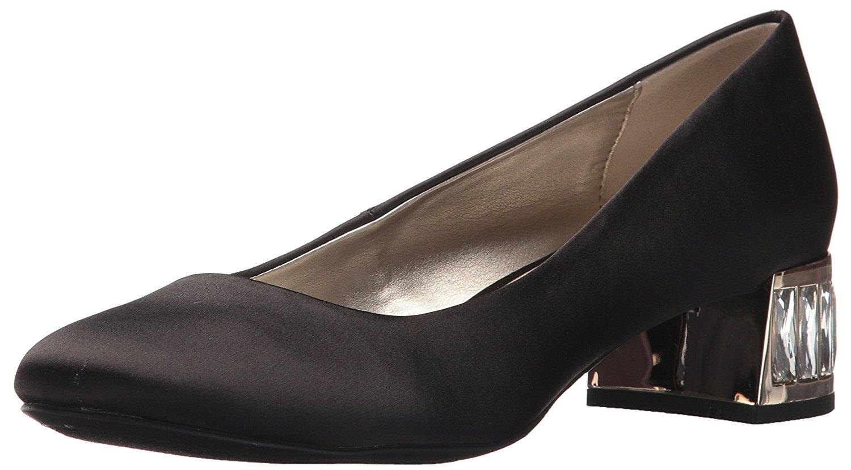 Anne Klein Womens Haedyn Fabric Round Toe Classic Pumps Black Fabric Size 80