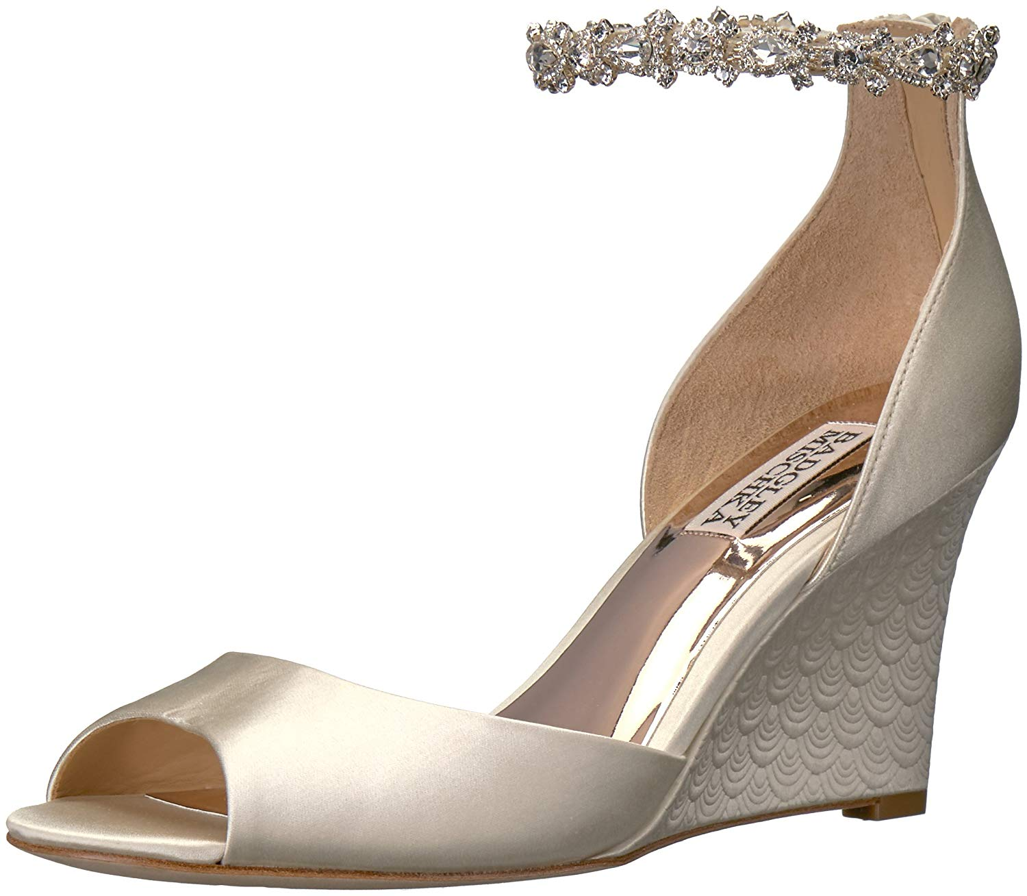 794f0b92db6 Details about Badgley Mischka Women's Tahlia Wedge Sandal, Ivory, Size 6.5  qluo