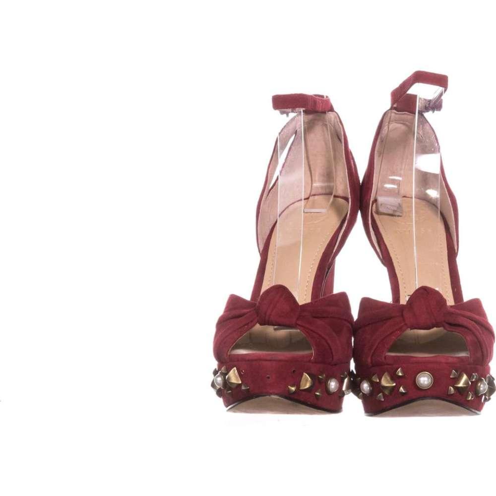 Guess Womens Kenzie 2 Leather Peep Toe SlingBack Classic