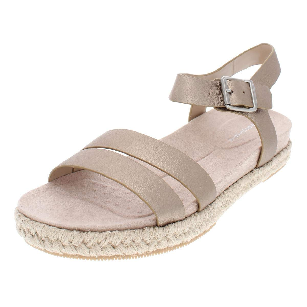 065cabf1d6e2 Details about Easy Spirit Womens Ixia Leather Open Toe Casual Espadrille  Sandals
