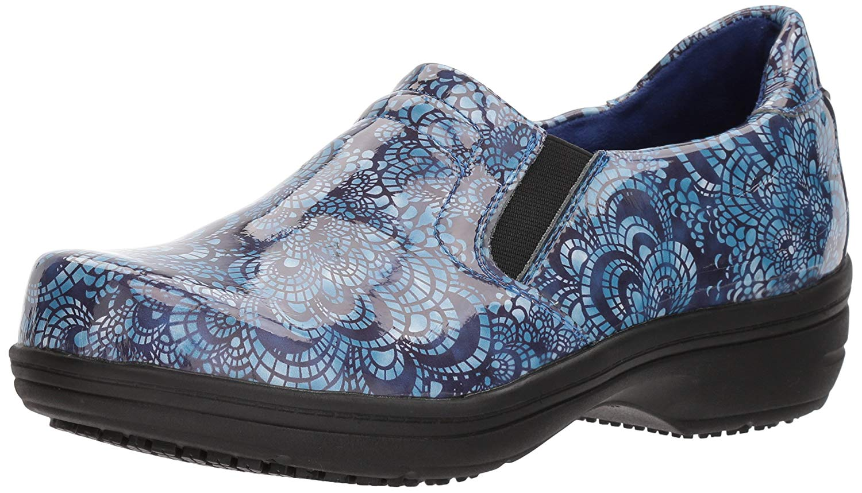Easy Works Womens Bind Leather Closed Toe Clogs, bluee, Size 9.0 dZXa