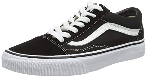 Vans Mens Old Skool Low Top Lace Up Fashion Sneakers, Black/White, Size 5.5 2R8w
