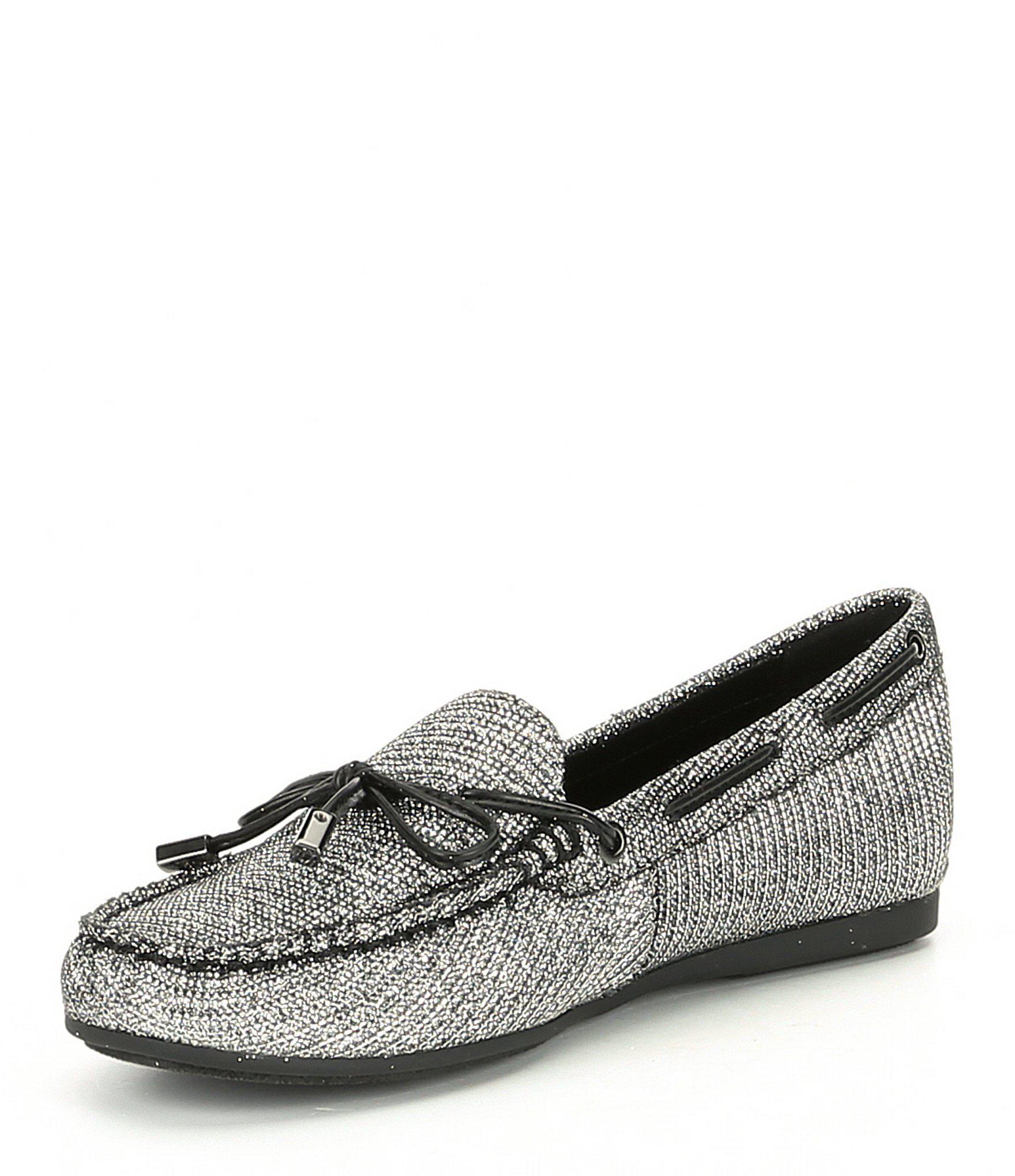 885fc997eed57c Michael Michael Kors Sutton Moc Womens Loafers & SlipOns Black /Silver 5.5  US /