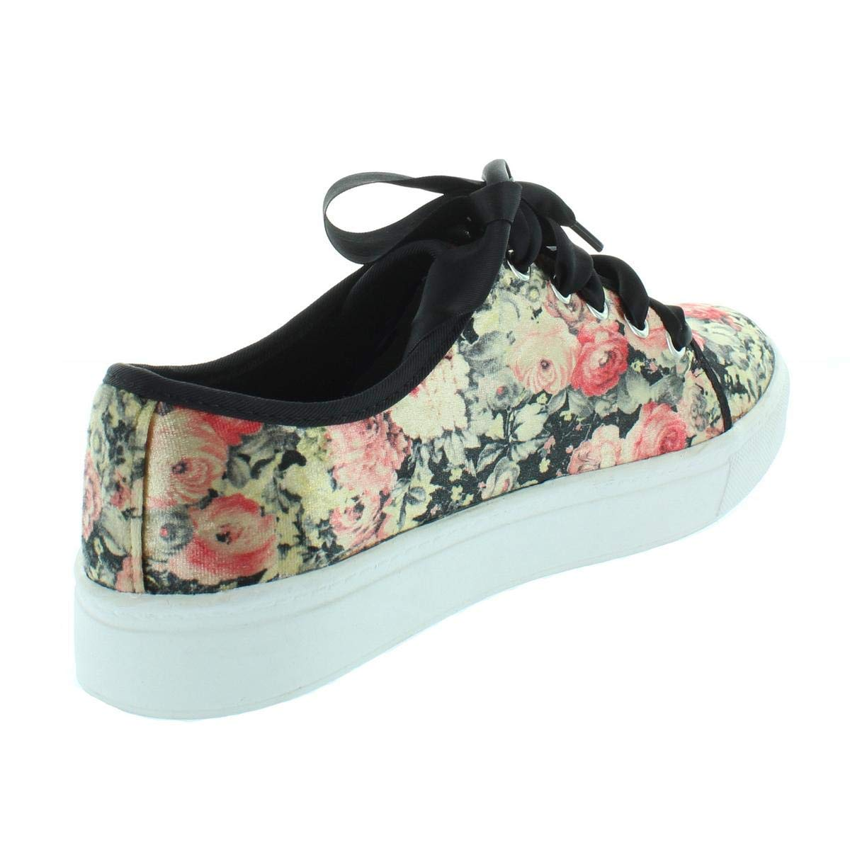 a3e3d25aa3a Dirty Laundry Womens Janeane Velvet Low Top Lace Up Fashion Sneakers ...