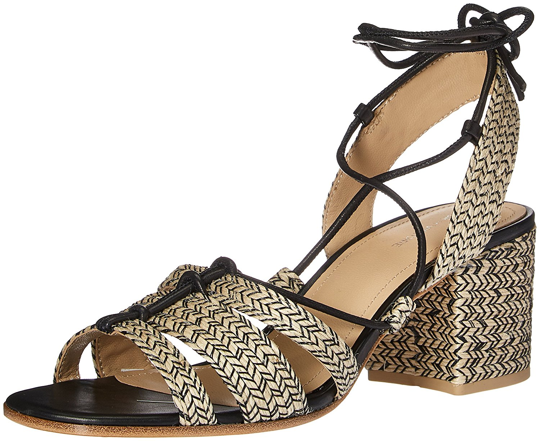 Pour La Victoire Womens Amada Open Toe Casual Slingback BlackNatural Size 75