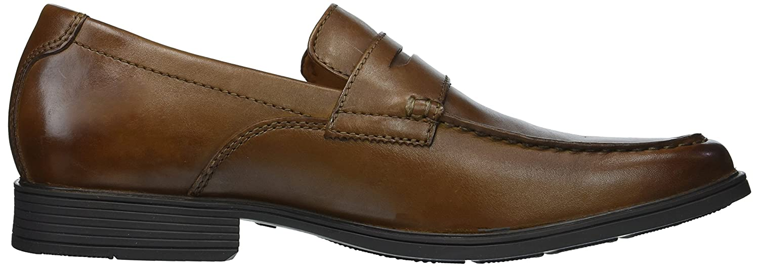 Clarks Mens Tilden Way Leather Closed Toe Penny Loafer ...