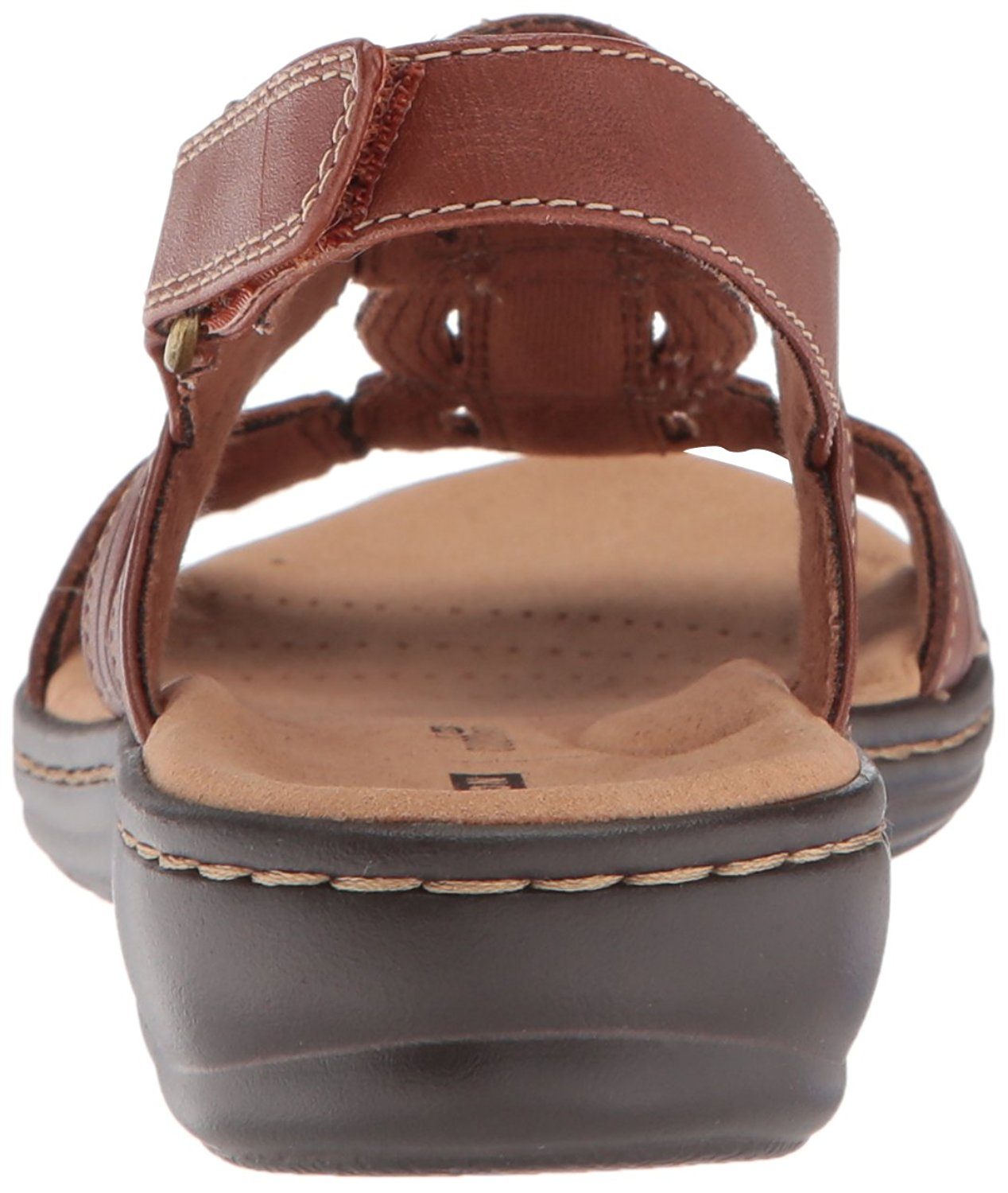 7e455e91173 CLARKS Womens leisa vine Leather Open Toe Casual Ankle Strap Sandals ...