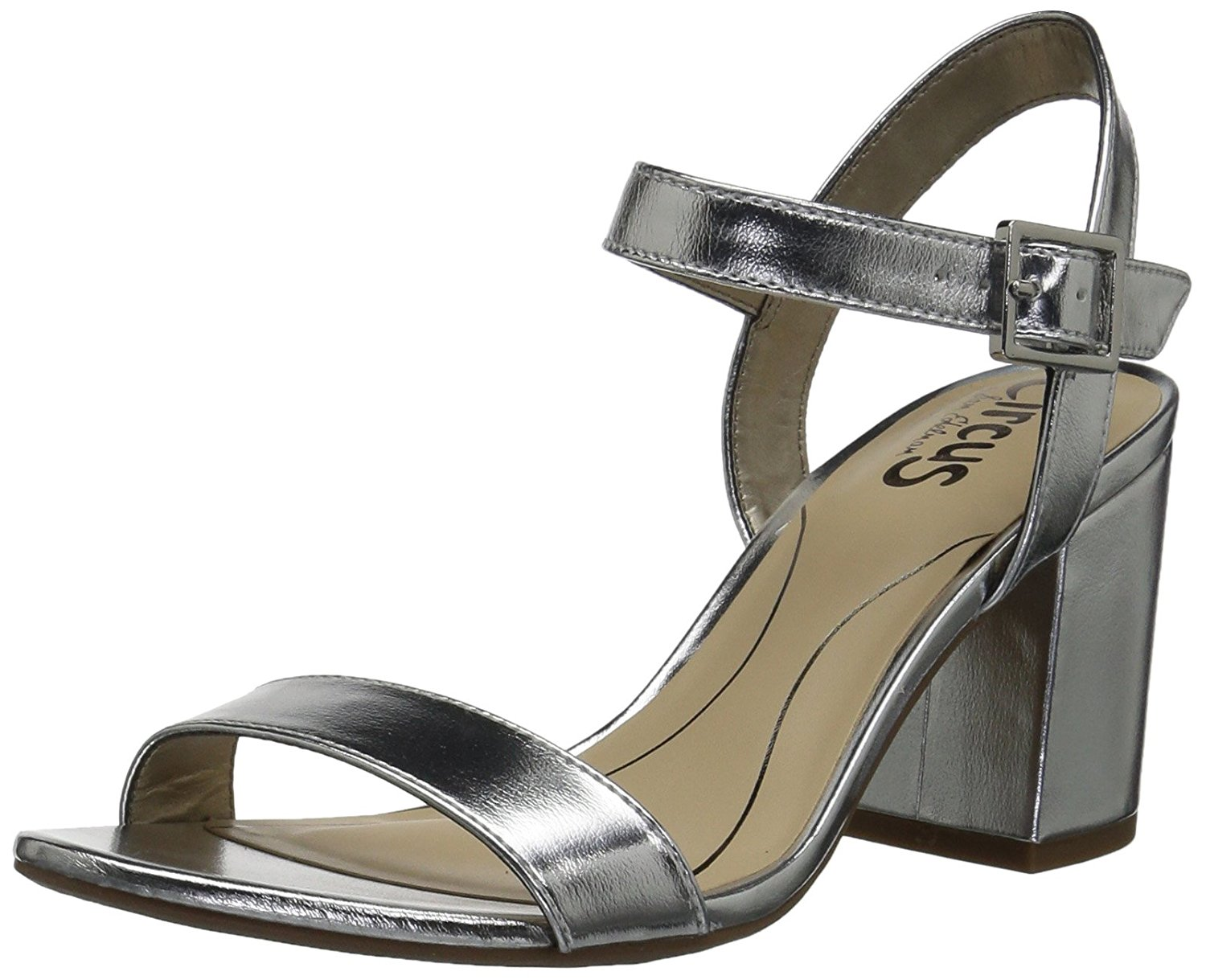 Circus by Sam Edelman Womens Ashton Open Toe Casual Ankle Soft Silver Size 85