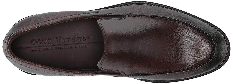 ECCO-HOMME-Vitrus-III-Moc-CLOSED-Toe-Slip-On-Chaussures-cacao-marron-taille-10-0-CU7v-U miniature 4