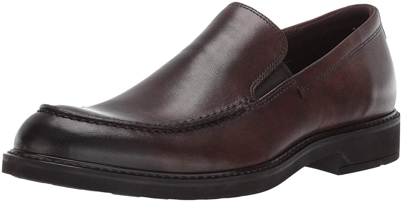 ECCO-HOMME-Vitrus-III-Moc-CLOSED-Toe-Slip-On-Chaussures-cacao-marron-taille-10-0-CU7v-U