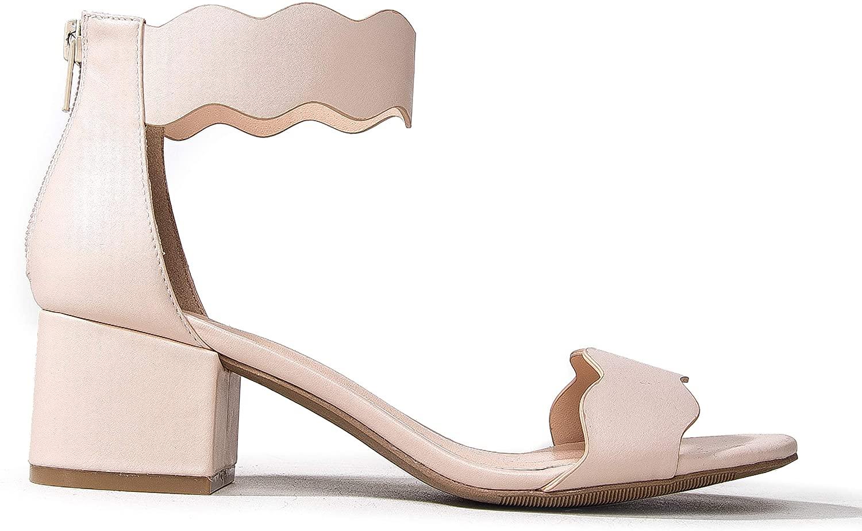 J. Adams Suede Open Toe Ankle Strap Sandal - Trendy Kitten