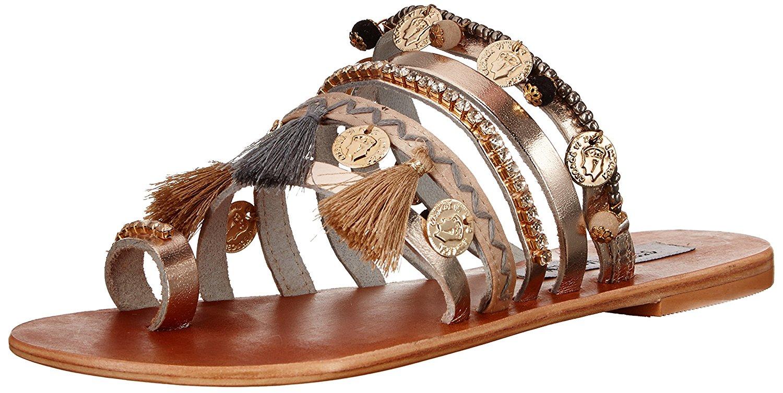 Steve Madden Womens Flat Sandals Metal Multi 6 US   4 UK dThv ...