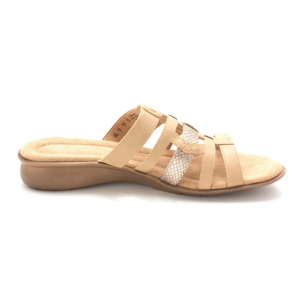 Naturalizer Womens Jaster Open Toe Casual Slide Sandals Nude Smooth Size 70 P