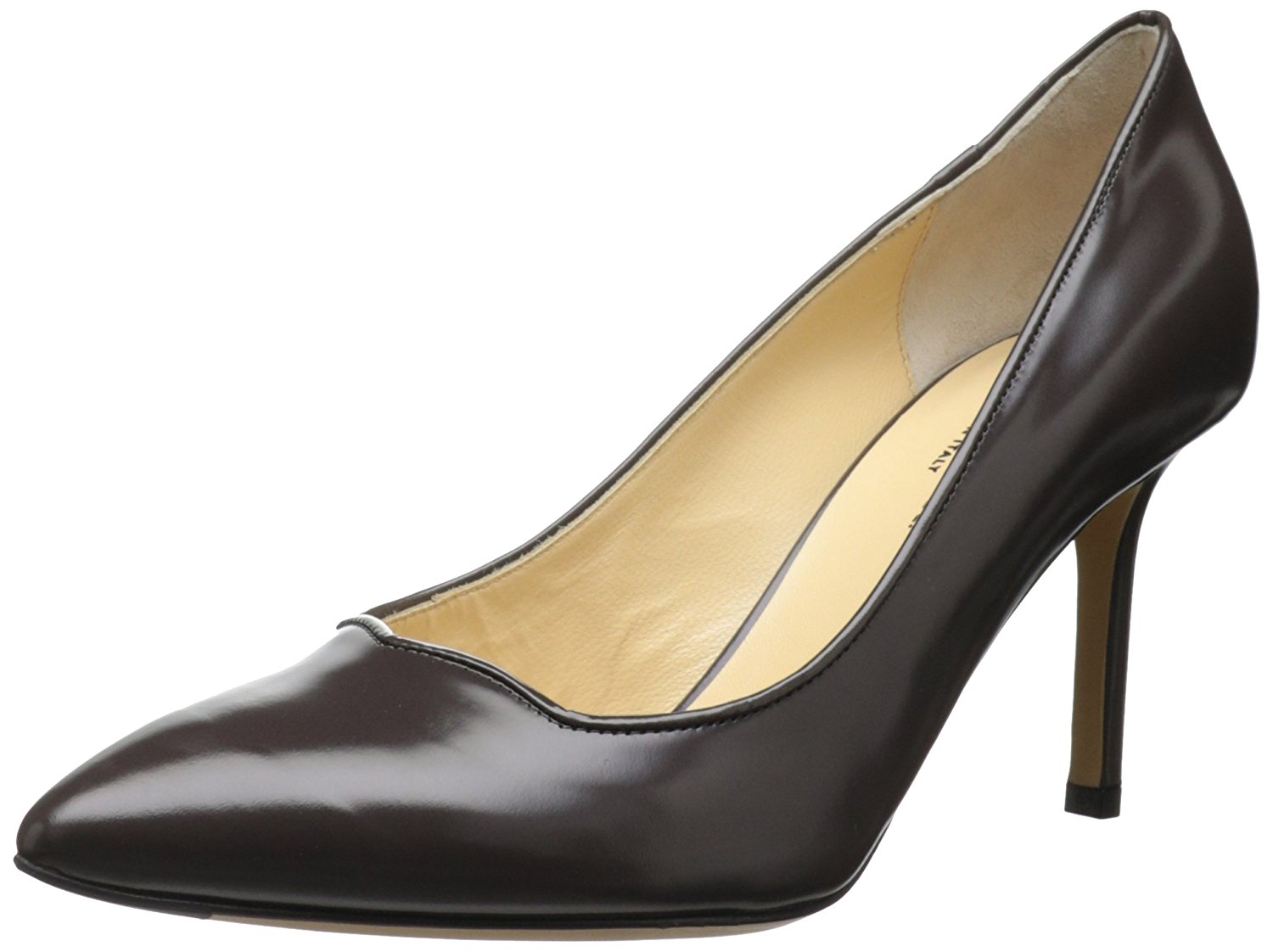 Marvin K Womens Carrie Leather Pointed Toe Classic Pumps Brown Size 9.5
