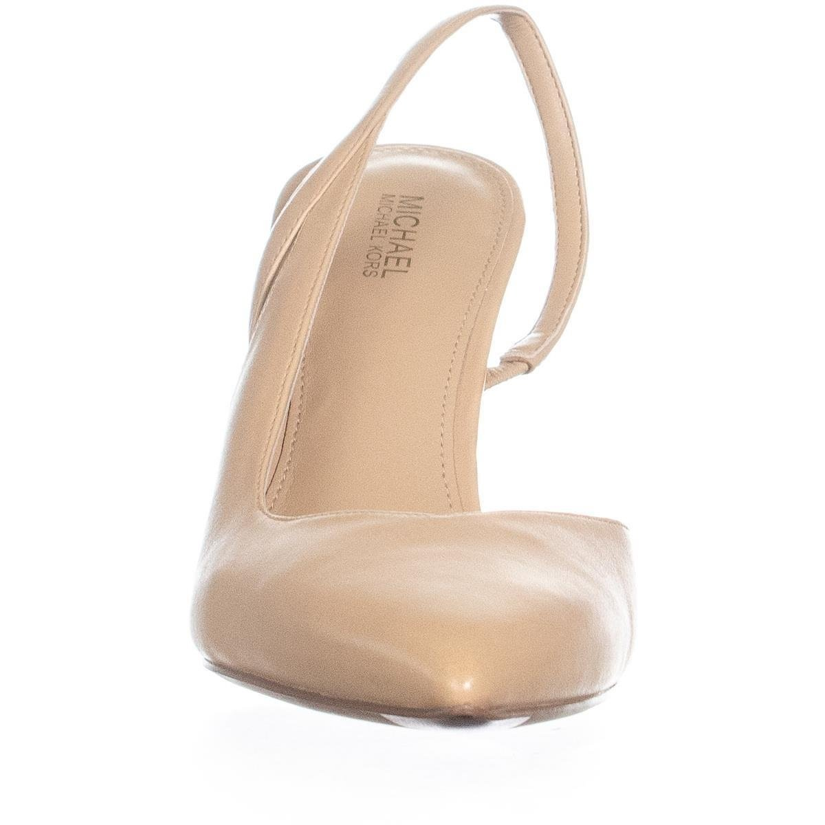 963dbe9c4f48 Michael Kors Womens Eliza Leather Pointed Toe SlingBack