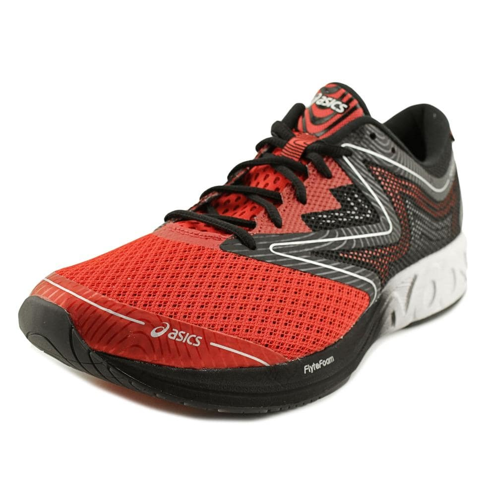 ASICS Womens Noosa Low Top Lace Up Running Vermilion/White/Black Size 8.0