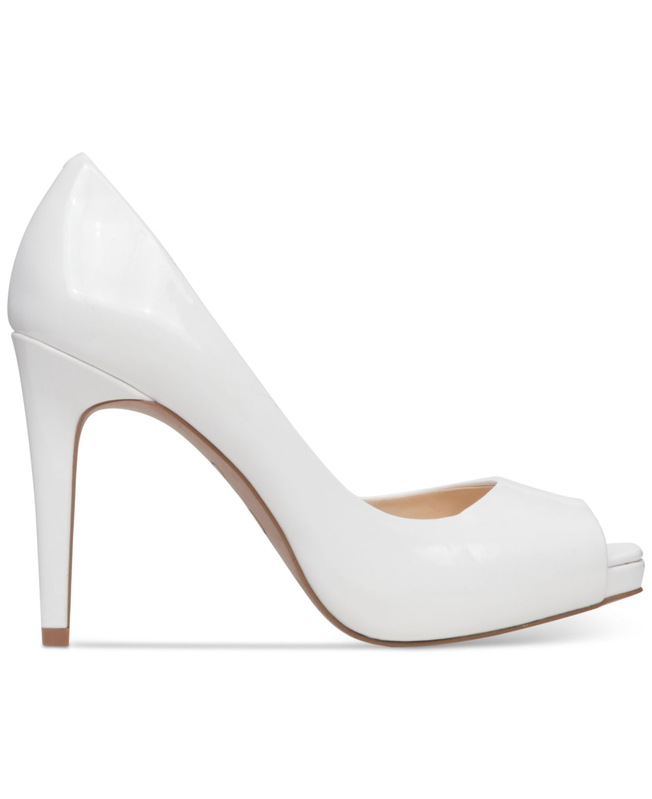 Jessica Simpson Womens JASELLE Peep Toe Dorsay Pumps Powder Size 8.0