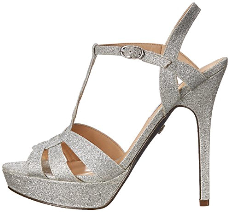 Nina Womens MarziaYF Open Toe Ankle Strap Platform Pumps Grey Size 7.0