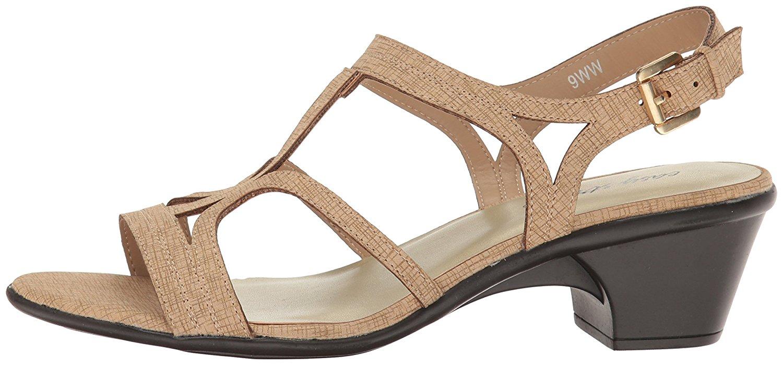 Naturalizer Womens Jade Open Toe Casual Slingback Sandals Saddle Tan Size 80
