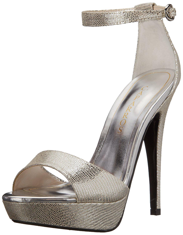 Caparros Womens Tasha Dress Sandal Silver Size 85