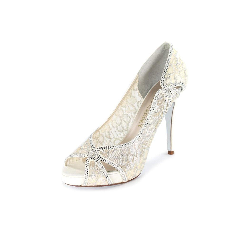 E Live From The Red Carpet Womens ZANDRA Size Peep Toe Classic Ivory Size ZANDRA 8.5 356f6c
