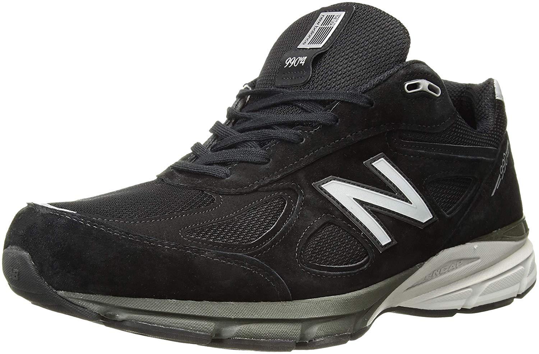 Walking Shoes, Black/Silver, Size 11.5
