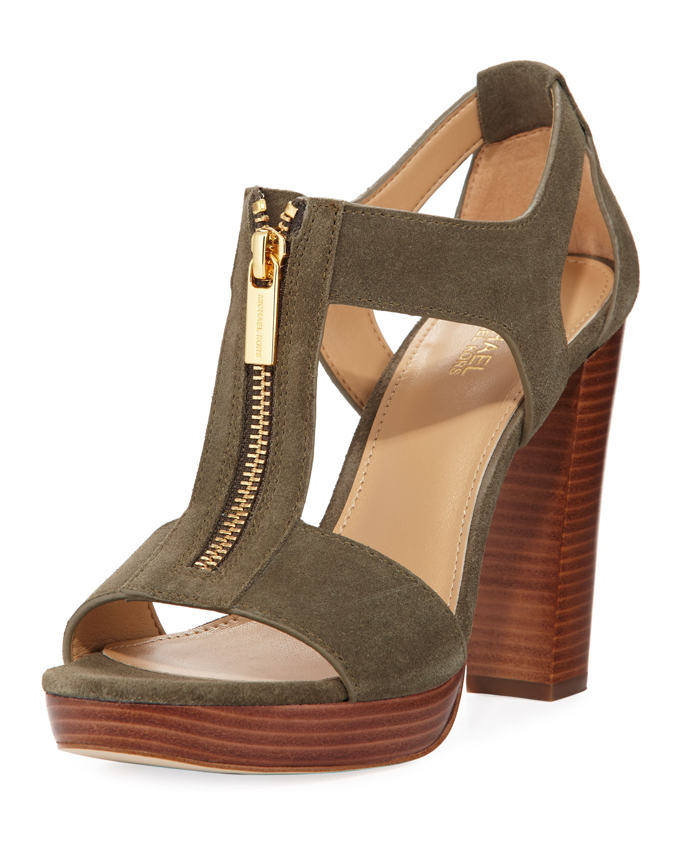 507acc635ddd Michael Michael Kors Berkley Womens Platform Sandals olive 8 US   6 UK UsIS