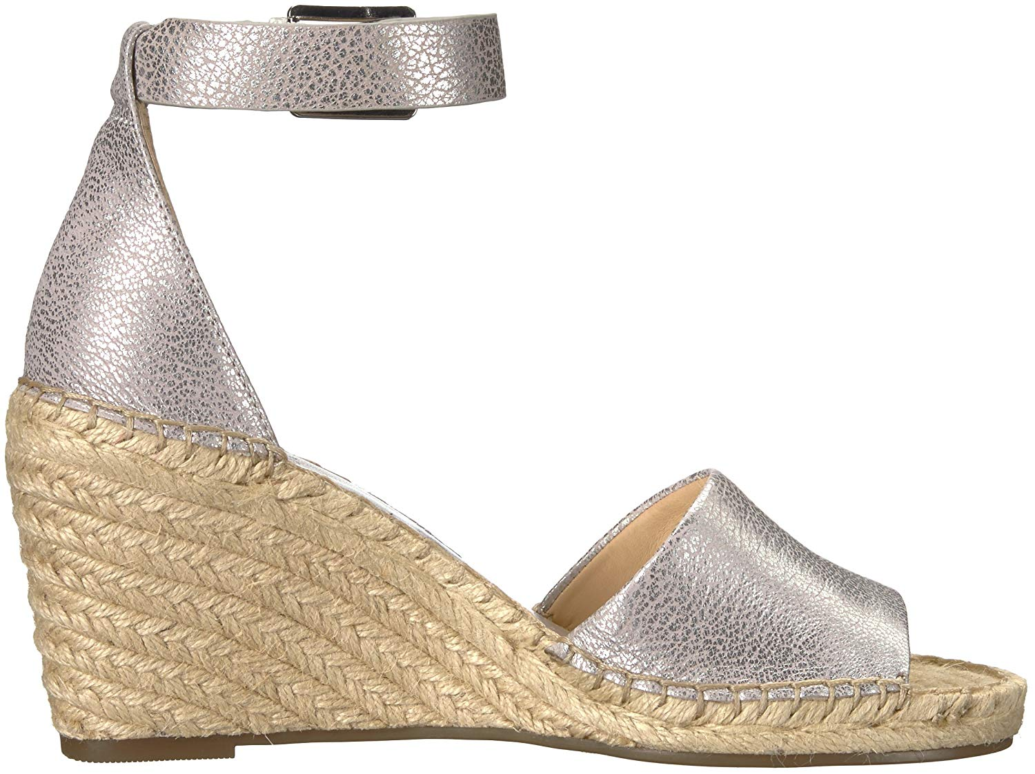 465a499dd08 Details about Vince Camuto Womens Leera Open Toe Casual Platform, Metal  Silver, Size 8.5 e80P