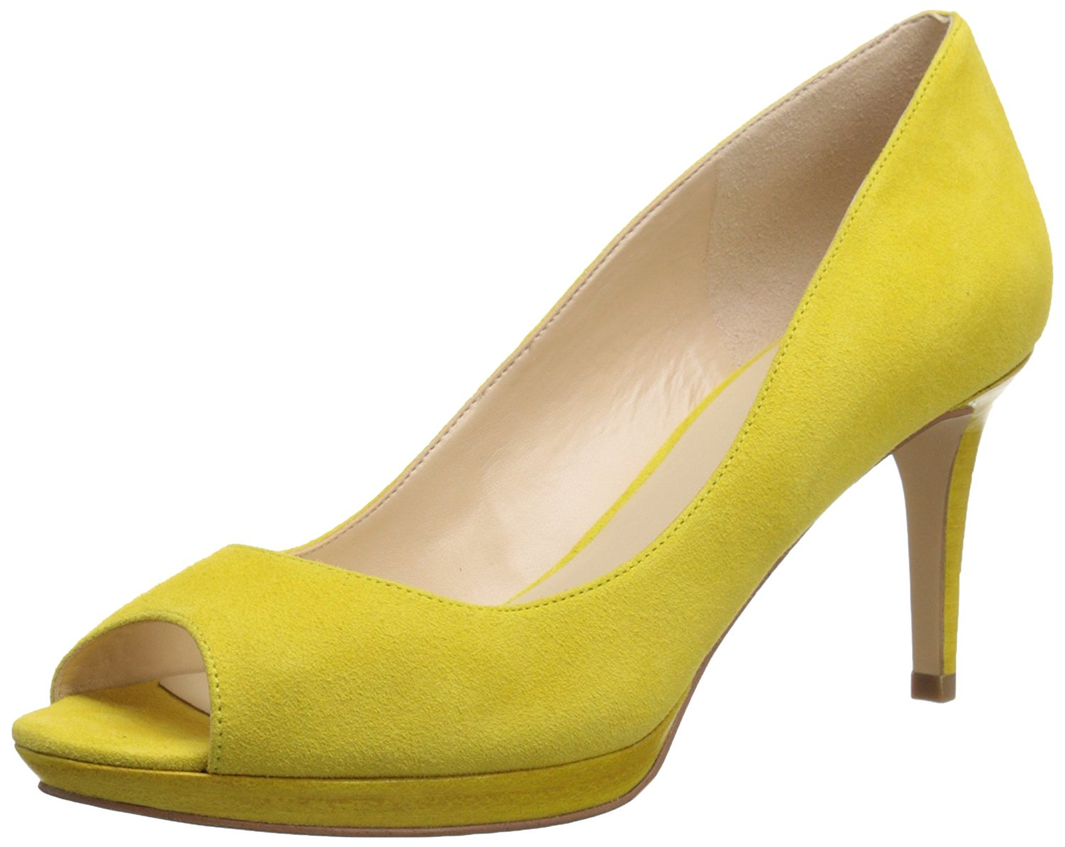 Image is loading Nine-West-Womens-Gelabelle-Peep-Toe-Classic-Pumps-