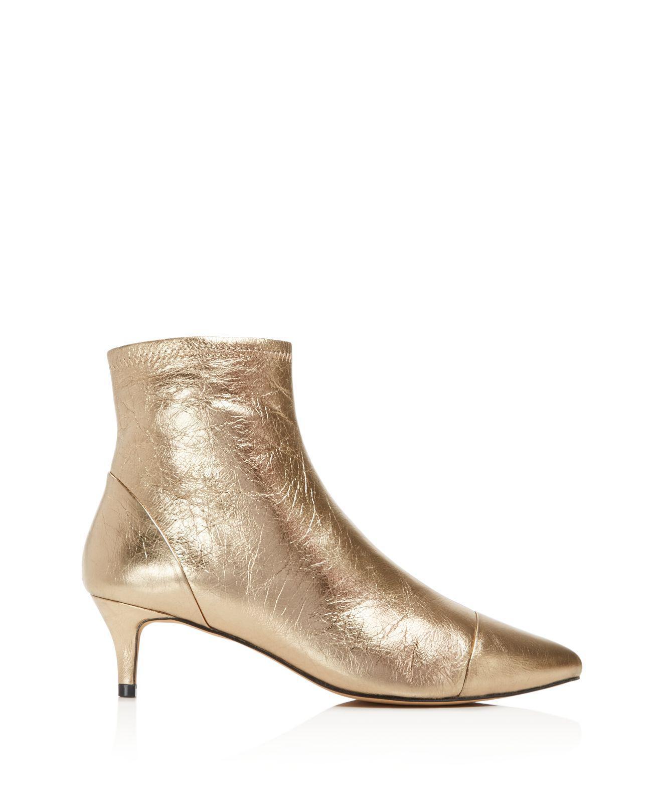360beedb441 Rebecca Minkoff Siya Womens Boots Gold Metallic 7.5 US   5.5 UK ...