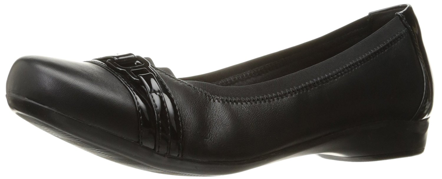 Clarks kinzie da Donna Mocassini Slipons Black Combi 85 US65 UK