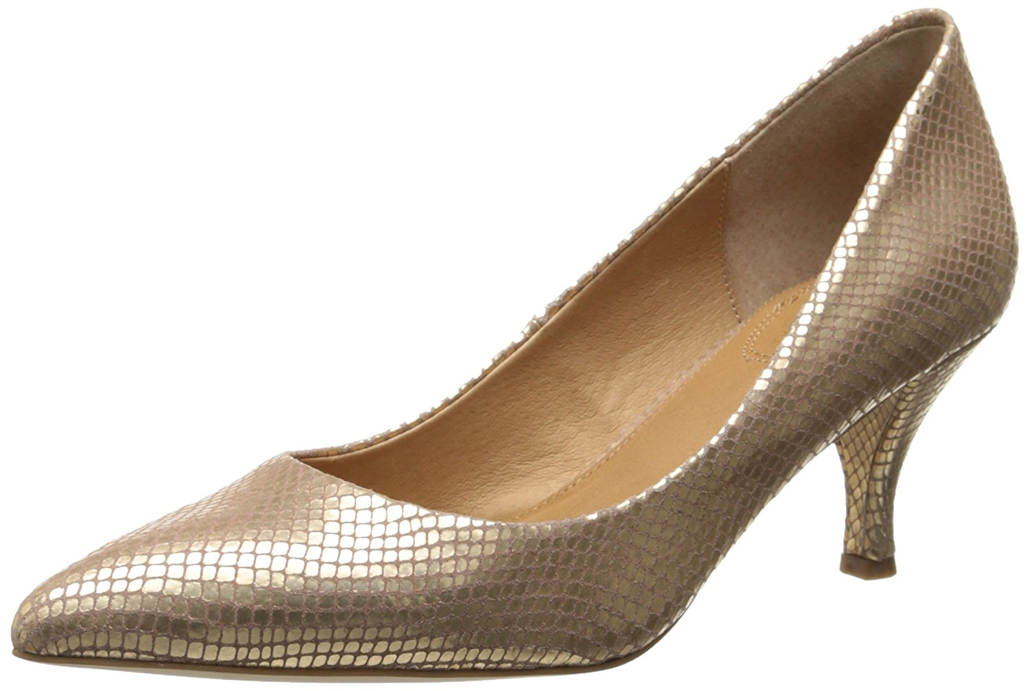 Corso Como Womens Penny Leather Pointed Toe Classic Pumps Platinum Size 8.0 9O