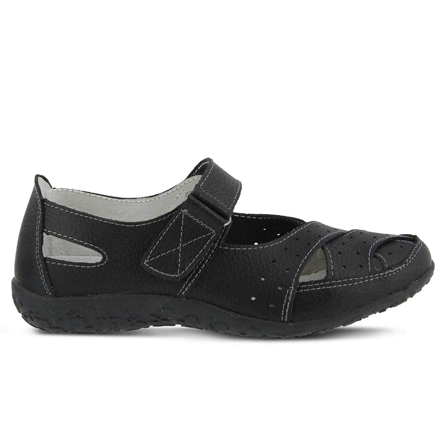 0 Women's 10 Uk Streetwise Spring Leather Sandals Step Black 8 Us Size 5wUqp8w