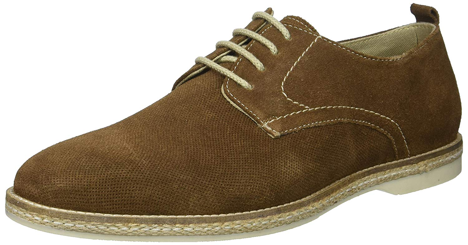 Steve Madden Mens Electro Leather Lace Up Casual Oxfords, Brown Suede, Size 10.5