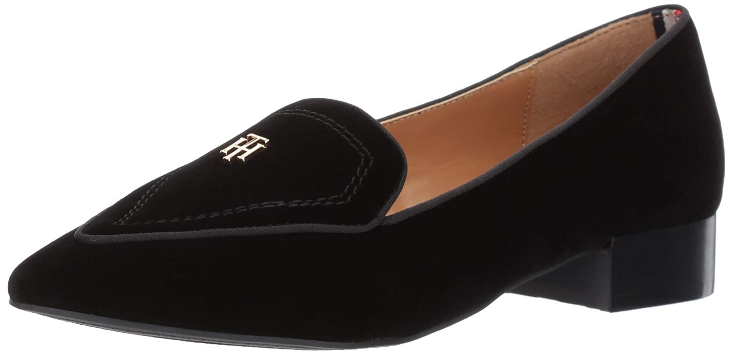 959ea3a0c Tommy Hilfiger Womens Harvard Leather Pointed Toe Loafers