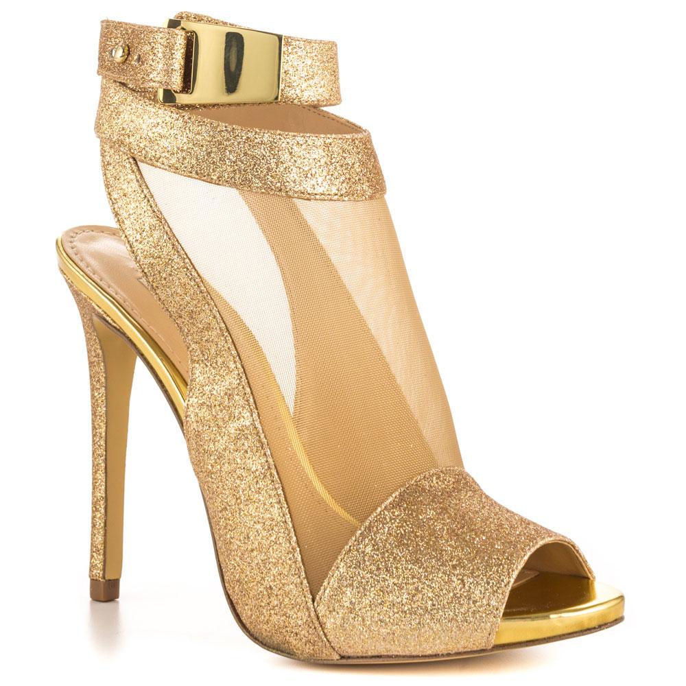 Gold Peep Toe Sandal