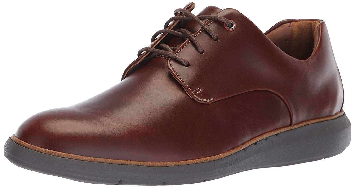 CLARKS Men's Un Voyageplain Oxford, Mahogany Leather, Leather, Leather, Dimensione 13.0 1a48a4