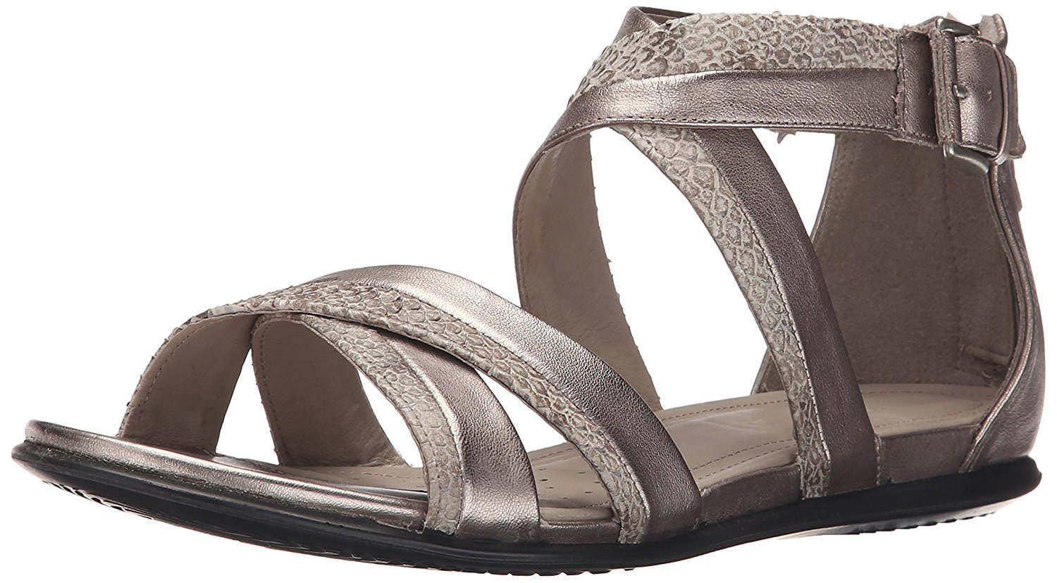ECCO Womens touch sandal Open Toe Casual Slide Sandals Moon Rock Size 4.0