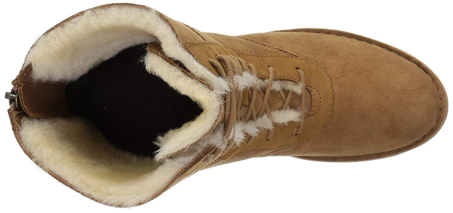 0459eb4c893 Details about UGG Australia Womens Daney Suede Round Toe Mid-Calf Cold,  Chestnut, Size 10.5