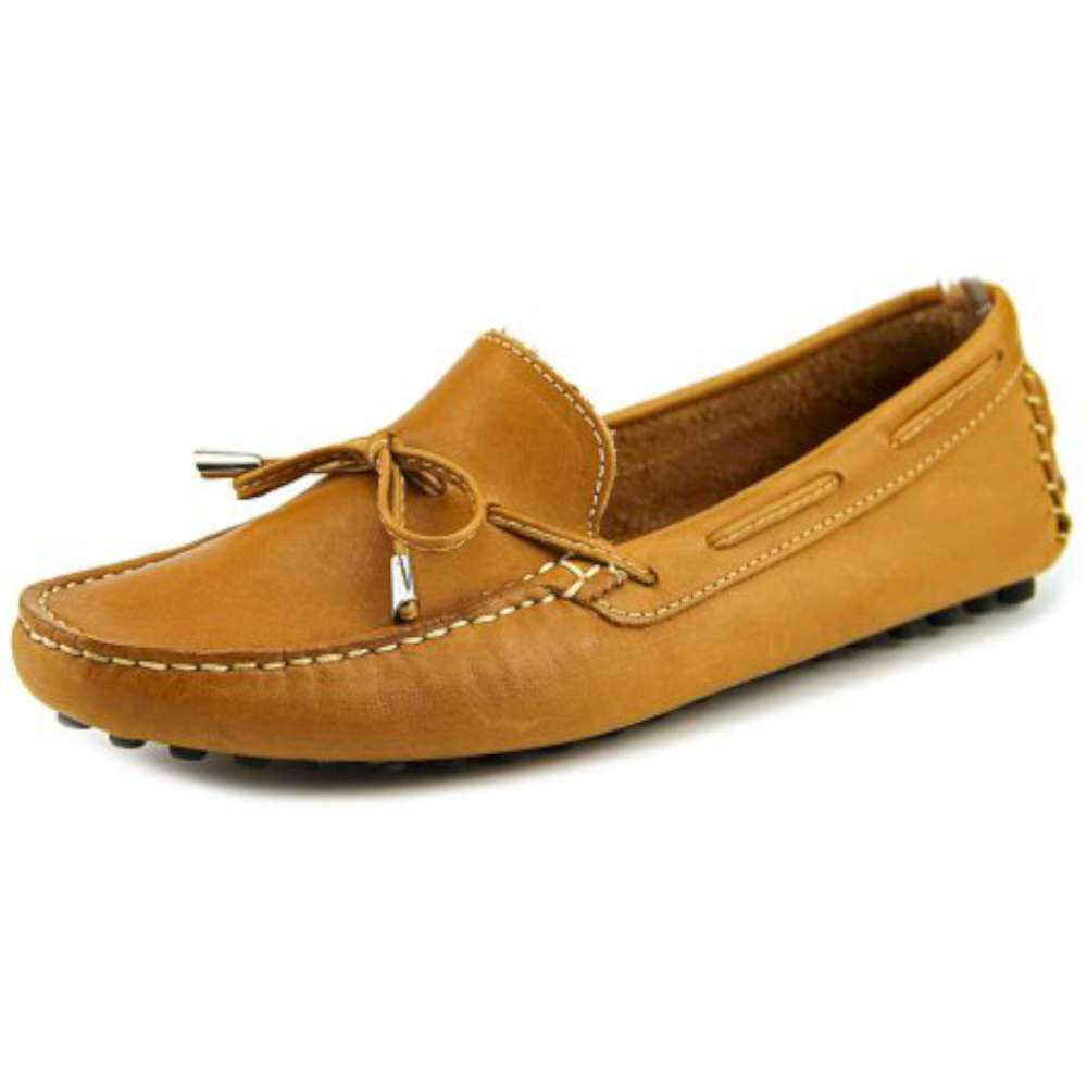 Mercanti Fiorentini Womens string tie moc Almond Toe Mustard Yellow Size 6.0 s