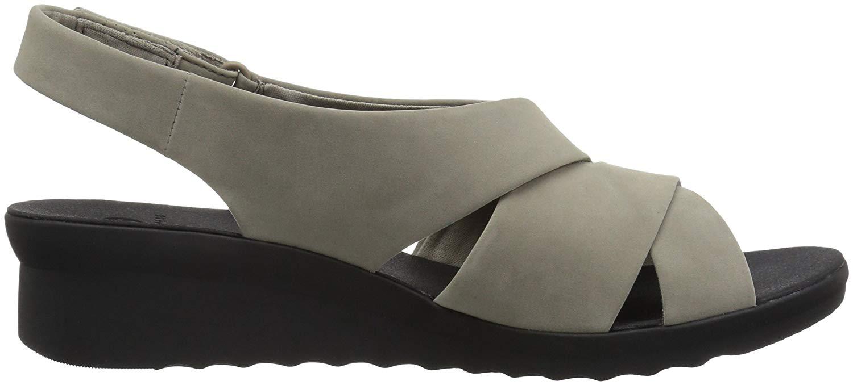 f392c9e8f14 Clarks Womens Caddell Petal Fabric Open Toe Casual Slingback Sandals ...