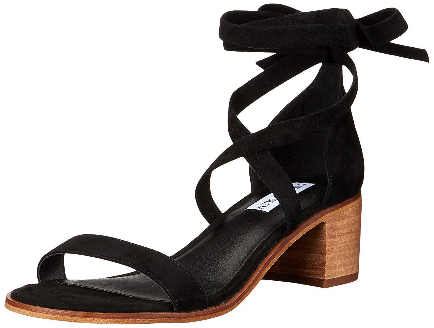 ccd87454017 Steve Madden Womens Rizzaa Leather Open Toe Ankle Wrap