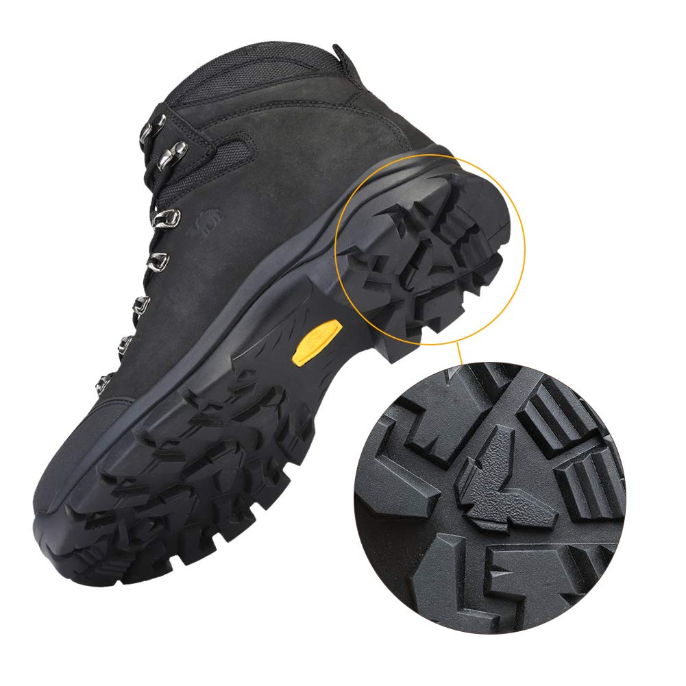 Details about CAMEL CROWN Mens Hiking Boots Outdoor Trekking Backpacking, Black, Size 12.5 IDM