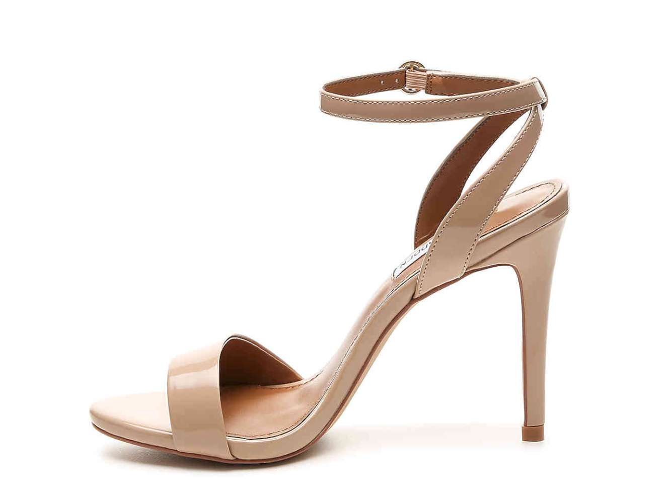 Steve Madden Womens Reno Open Toe Casual Ankle Strap Sandals nude pat Size 9.0