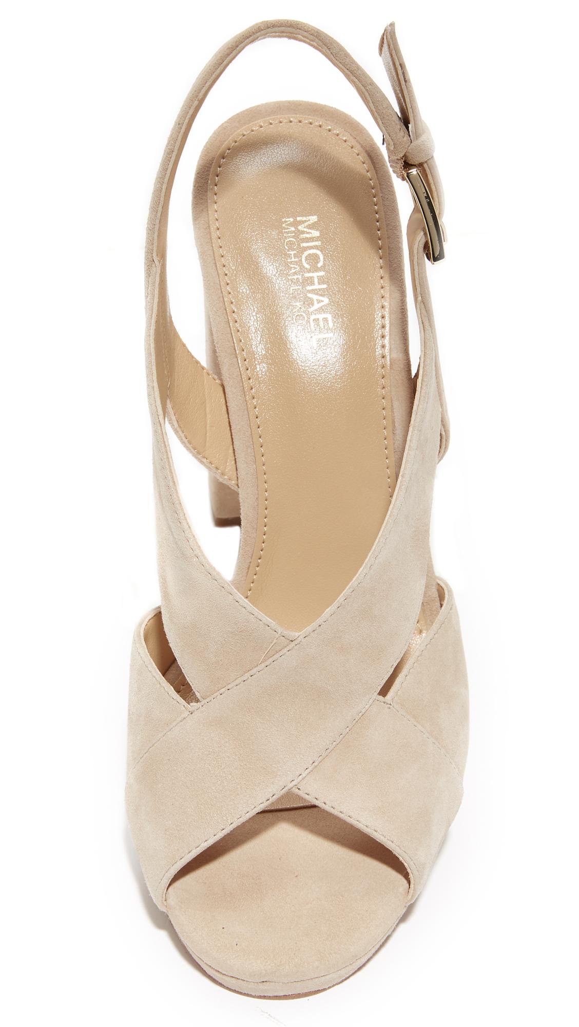 e1ee8ae0d2a4 Michael Michael Kors Becky Platform Womens Platform Sandals Sand 10 US   8  UK e
