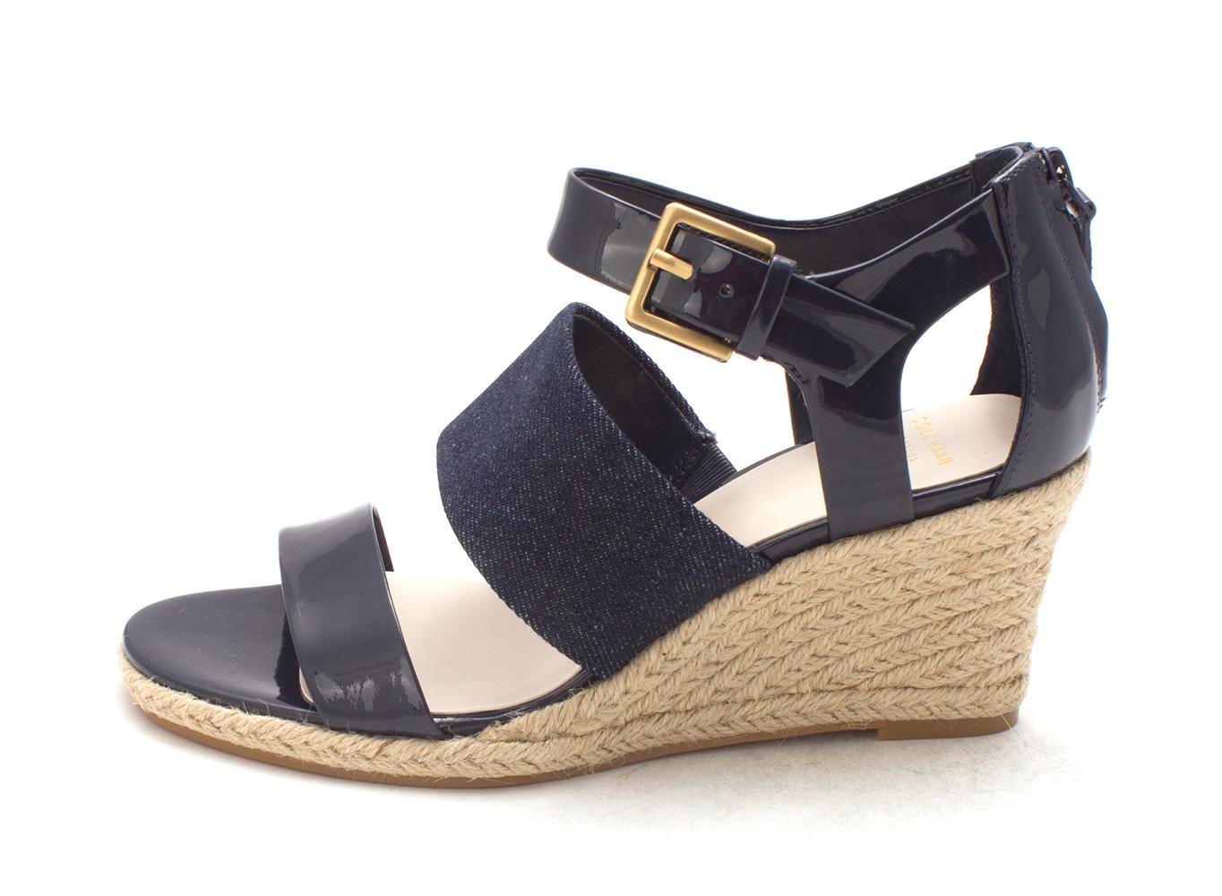 Cole Haan Womens Kendallsam Open Toe Casual Espadrille Sandals Blue Size 60