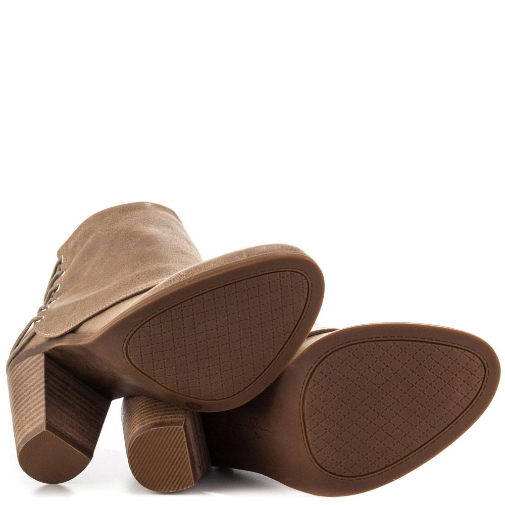 Jessica-Simpson-caysy-da-donna-in-pelle-punta-chiusa-Moda-Alla-Caviglia-Stivali