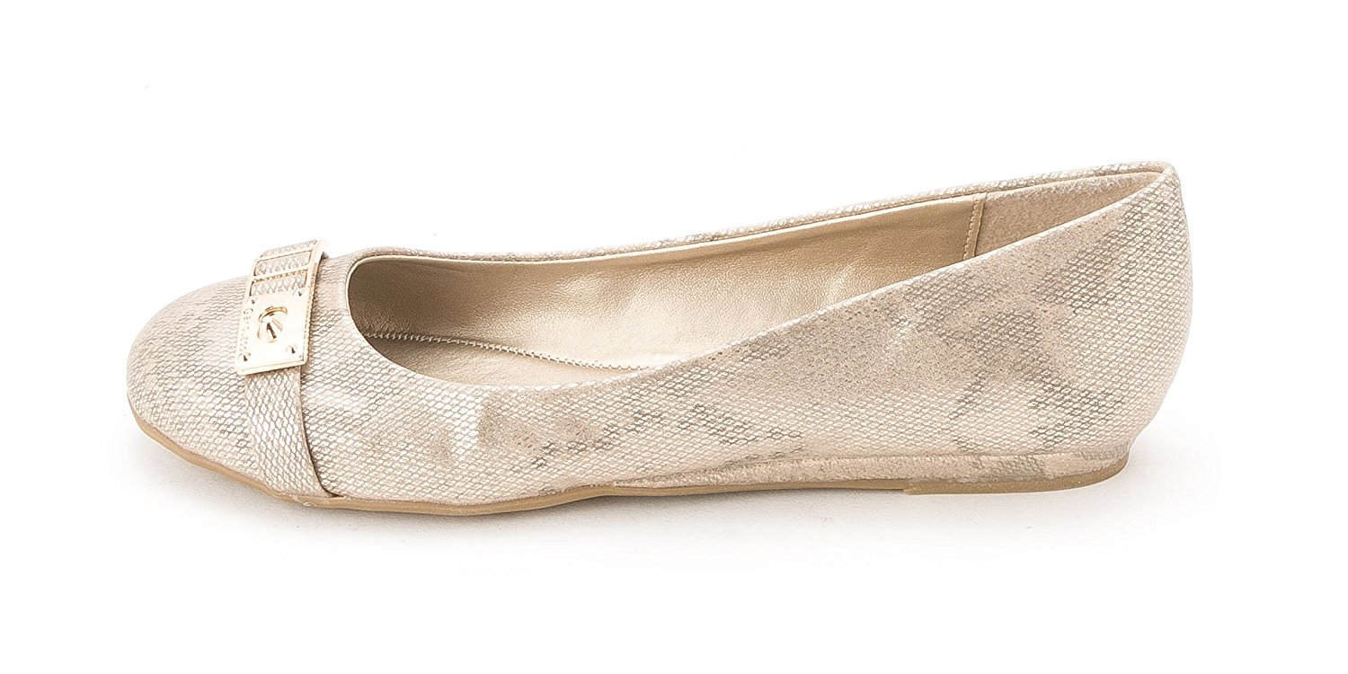 G by Guess Womens Favie Closed Toe Espadrille Flats Gold LL Size 7.5