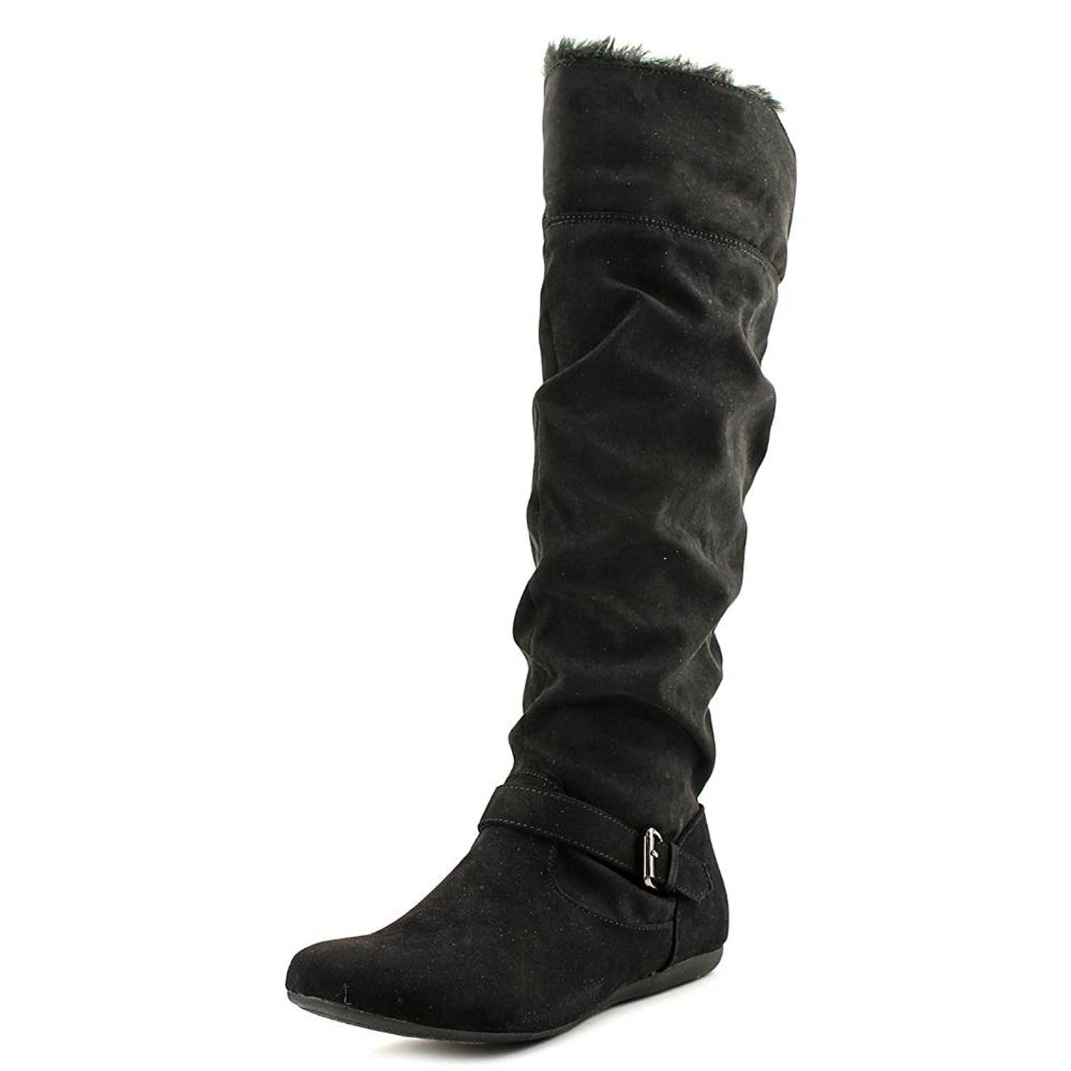 New Directions Womens Sierra Closed Toe Mid-Calf Fashion Boots, Black, Size 7.5